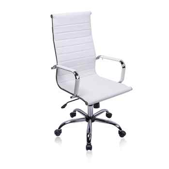 Exofcer High Curved Back PU leather Office Chair - Toptopdeal.co.uk